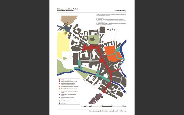 Projects map for Chelmsford High Street