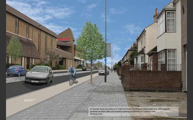 Townley Road to Highland Road vision