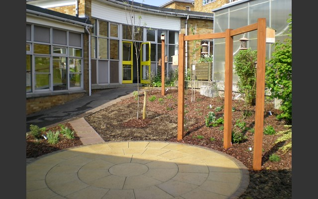 Wells Park School after planting day