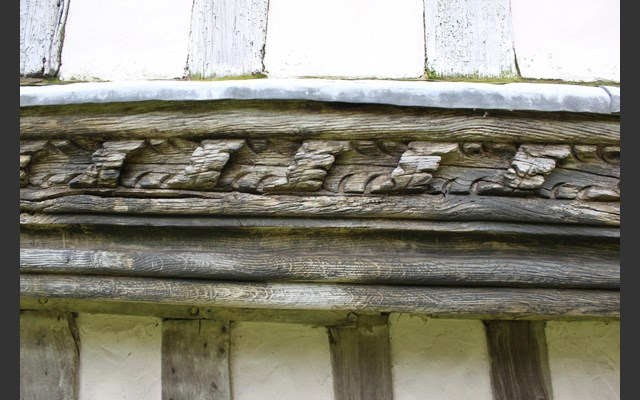 Timber carving in Manuden Conservation Area