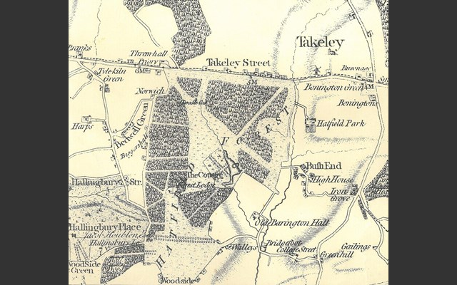 Map of Hatfield 1777