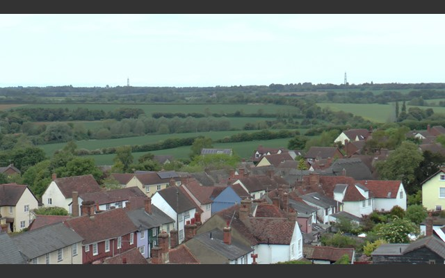 View from the tower, Thaxted