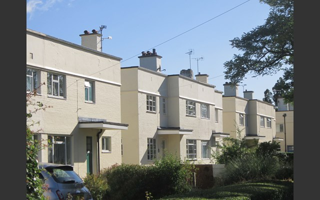 modernist houses in Silver End