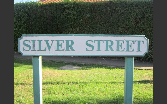 Silver Street sign, Silver End