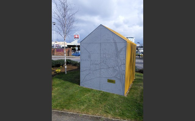 Public Artwork  close-up for West Bletchley