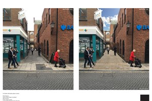 Colchester Bank Passageway before and after