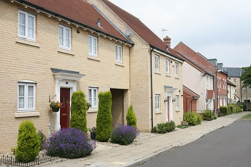 Row of new housing