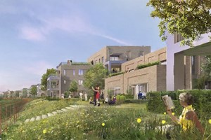 Artist's impression of Riverside development