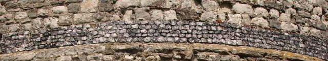 Hadleigh Castle -  close up of brickwork