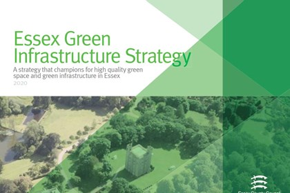 Front cover page of the Green Infrastructure Strategy